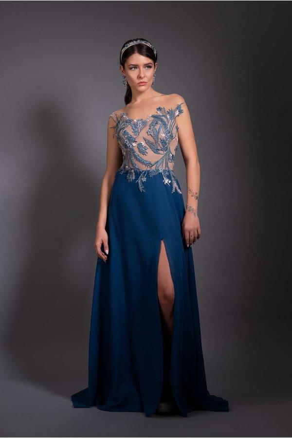 Дизайнерска елегантна абитуриентска рокля A freak of nature, подходяща за абитуренти, сватби на топ цена