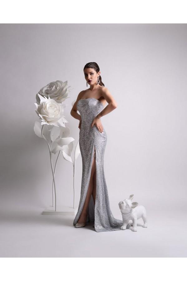 Дизайнерска елегантна абитуриентска рокля Мерилин, подходяща за абитуренти, сватби и булки.